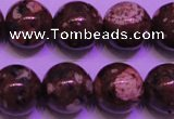 CDM53 15 inches 10mm round strawberry dalmatian jasper beads