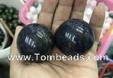 CDN15 40mm round pyrite gemstone decorations wholesale