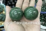 CDN18 35mm round pyrite gemstone decorations wholesale