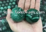 CDN23 40mm round natural malachite gemstone decorations