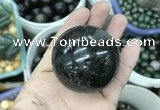 CDN27 50mm round natural astrophyllite gemstone decorations