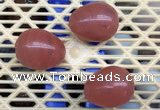 CDN301 25*35mm egg-shaped cherry quartz decorations wholesale