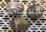CDN317 30*40mm egg-shaped ocean agate decorations wholesale
