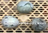 CDN318 30*40mm egg-shaped picasso jasper decorations wholesale