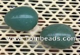 CDN337 35*50mm egg-shaped green aventurine decorations wholesale