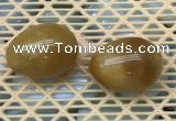CDN338 35*50mm egg-shaped yellow jade decorations wholesale