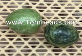 CDN340 35*50mm egg-shaped yellow green pine turquoise decorations