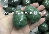 CDN35 38*50mm egg-shaped pyrite gemstone decorations wholesale