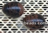 CDN356 35*50mm egg-shaped mahogany obsidian decorations wholesale