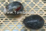 CDN360 35*50mm egg-shaped blood jasper decorations wholesale