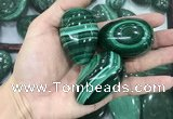 CDN37 25*40mm - 30*45mm egg-shaped natural malachite decorations