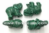 CDN384 20*40*30mm elephant imitation malachite decorations wholesale