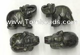 CDN390 20*40*30mm elephant dragon blood jasper decorations wholesale
