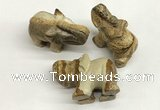 CDN407 25*50*35mm elephant picture jasper decorations wholesale