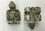 CDN461 38*55*28mm turtle dalmatian jasper decorations wholesale
