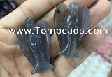 CDN474 30*40mm angel grey agate decorations wholesale