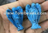 CDN479 30*40mm angel imitation turquoise decorations wholesale
