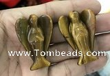 CDN484 30*40mm angel yellow tiger eye decorations wholesale