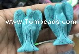 CDN493 35*50mm angel imitation turquoise decorations wholesale