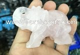 CDN510 33*65*45mm elephant rose quartz decorations wholesale