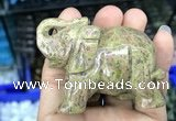 CDN516 33*65*45mm elephant unakite decorations wholesale