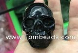 CDN554 35*50*40mm skull black agate decorations wholesale