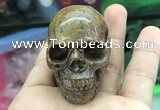 CDN558 35*50*40mm skull agate decorations wholesale