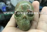 CDN561 35*50*40mm skull unakite decorations wholesale