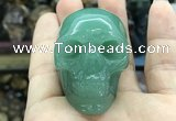 CDN563 35*50*40mm skull green aventurine decorations wholesale