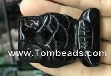 CDN577 35*50mm owl black agate decorations wholesale