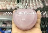 CDN598 55*65mm apple rose quartz decorations wholesale