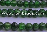 CDQ02 15.5 inches 4mm round A- grade diopside gemstone beads