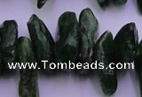 CDQ73 15.5 inches 8*22mm - 12*28mm diopside chips gemstone beads