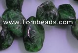 CDQ75 15.5 inches 8*15mm - 10*20mm diopside chips gemstone beads