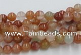 CDQ01 15.5 inches 6mm round natural red quartz beads wholesale