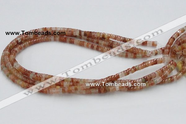 CDQ03 15.5 inches 3*6mm rondelle natural red quartz beads wholesale