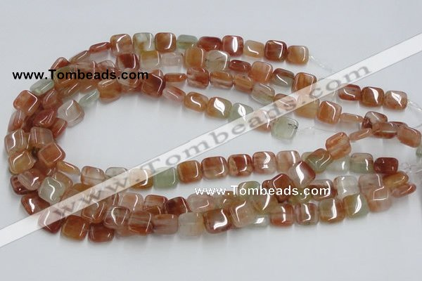 CDQ06 15.5 inches 12*12mm square natural red quartz beads wholesale