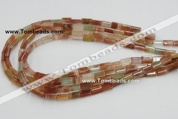 CDQ09 15.5 inches 8*12mm rectangle natural red quartz beads wholesale