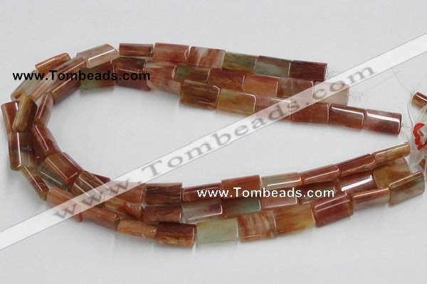 CDQ10 15.5 inches 13*18mm rectangle natural red quartz beads wholesale