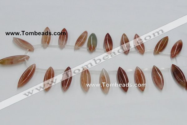 CDQ11 15.5 inches 12*30mm marquise natural red quartz beads wholesale