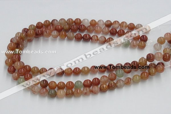 CDQ14 15.5 inches 12mm round natural red quartz beads wholesale