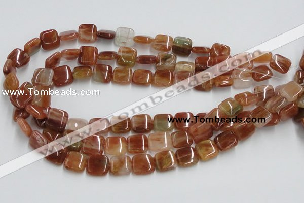 CDQ15 15.5 inches 6*6mm square natural red quartz beads wholesale