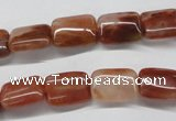 CDQ19 15.5 inches 8*10mm rectangle natural red quartz beads wholesale