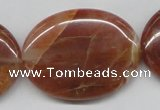 CDQ27 15.5 inches 30*40mm oval natural red quartz beads