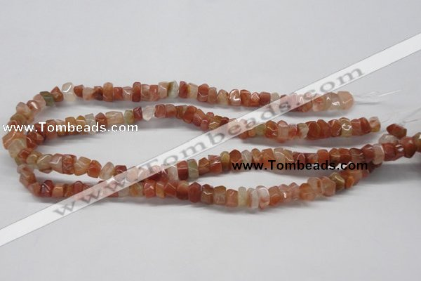 CDQ28 15.5 inches 7*10mm nugget natural red quartz beads