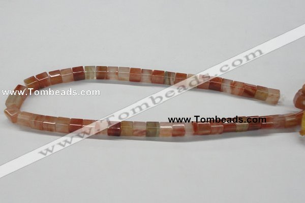 CDQ36 15.5 inches 8*8mm cube natural red quartz beads wholesale