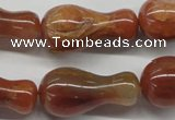 CDQ41 15.5 inches 15*30mm vase-shaped natural red quartz beads