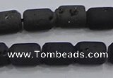 CDQ615 8 inches 6*8mm drum druzy quartz beads wholesale