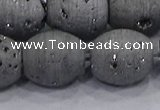 CDQ635 8 inches 12*14mm rice druzy quartz beads wholesale