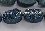 CDQ714 8 inches 13*18mm oval druzy quartz beads wholesale